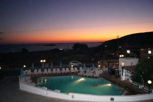 Закат на курорте Амнисос